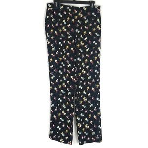 Ann Taylor Floral Black Pants. NWT M